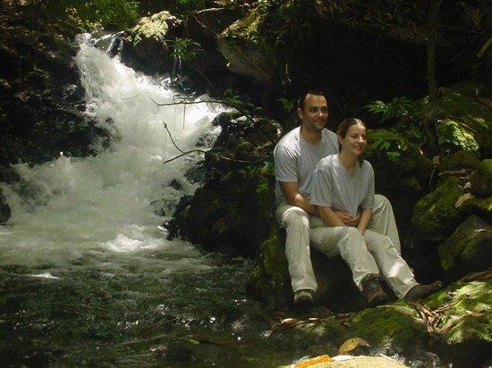 Curubanda Lodge: Waterfall in the property