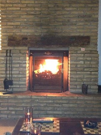The Walnuts Country House: our open fire :)
