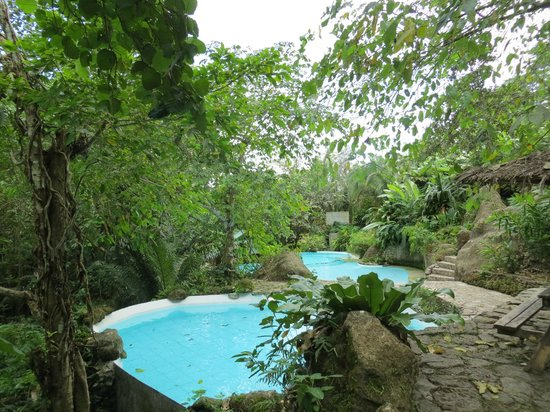 Siaton, Philippines: The pools among the trees