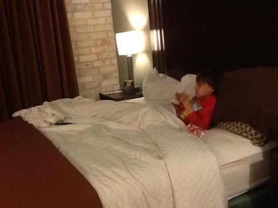 Embassy Suites by HIlton Corpus Christi : comfy king size bed