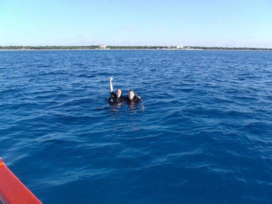 Sunrise Divers: My husband and I right after the dive!!