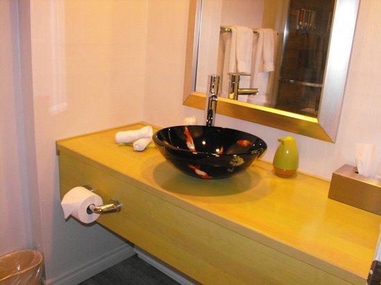 Le Champlain Hotel: Fishbowl sink