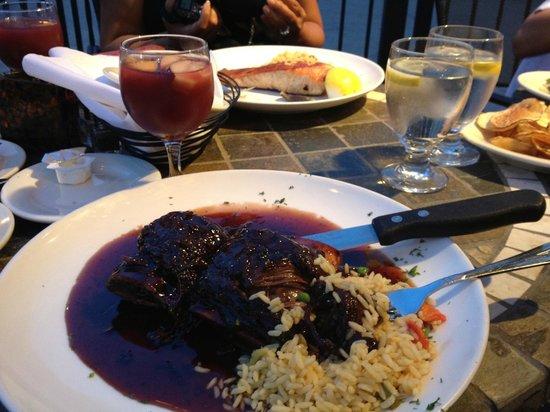 Mallorca: Beef rib and salmon plates