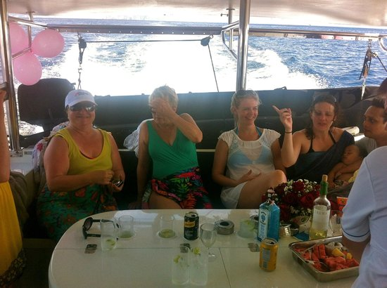 Epic Charters: Undercover and near the giant esky full of cold drinks!
