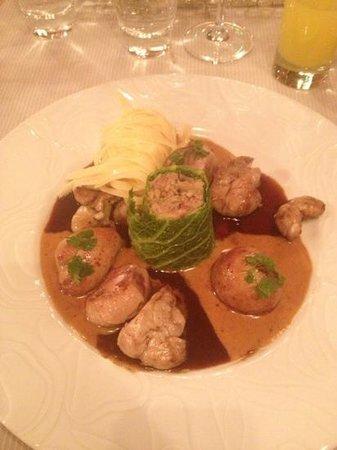 Restaurant L' Ami Fritz : duo de rognons et ris de veau
