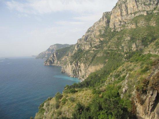 Fornillo : driving to positano