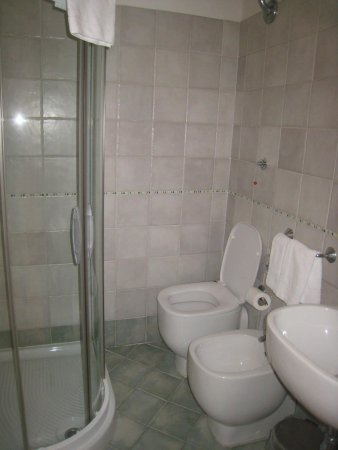 Hotel Globus: A small shower