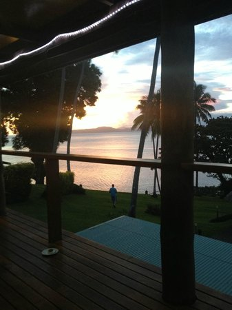 Nakia Resort & Dive: sunset from where we ate everyday