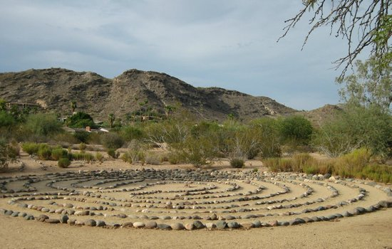 Paradise Valley, AZ: Labrynth at the north end