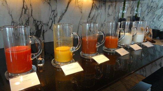 Mandarin Oriental, Tokyo: ケシキの朝食:ジュース類