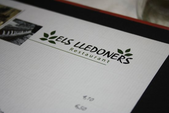 Els Lledoners: Menu of fantastic restaurant