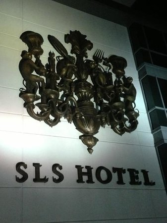 SLS Hotel, A Luxury Collection Hotel, Beverly Hills: Hotel sign