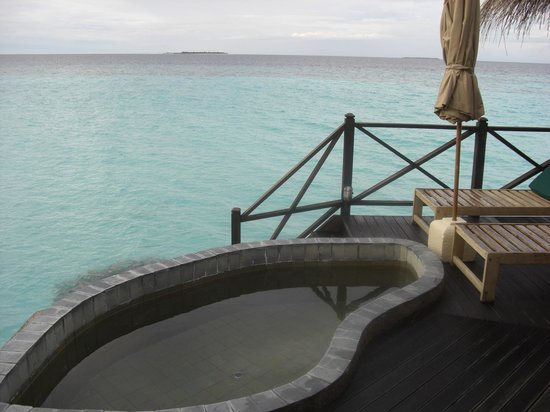 Coco Palm Dhuni Kolhu: Deck and plunge pool