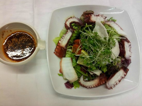 Mitsukoshi: Octopus Salad with Spicy Citrus dressing