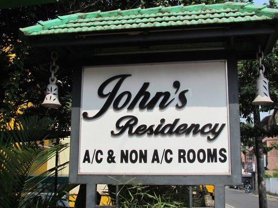Outside Sign John's Residency