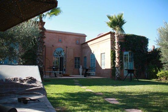 Villa d'Akhdar : vue du jardin