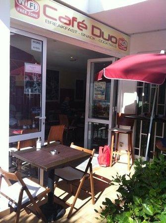Cafe Duo: café Duo opposite hotel Neptuno