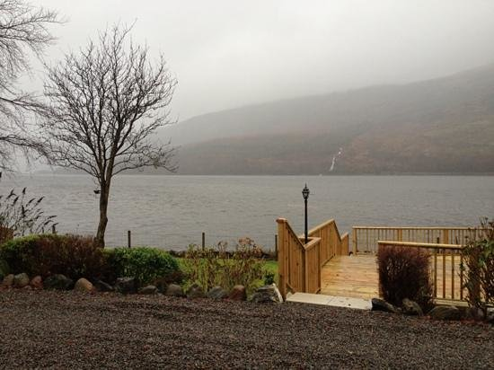 Lochside Guest House: view from the back garden