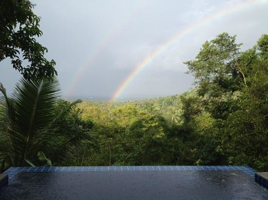 The Place Luxury Boutique Villas: rainbow one morning