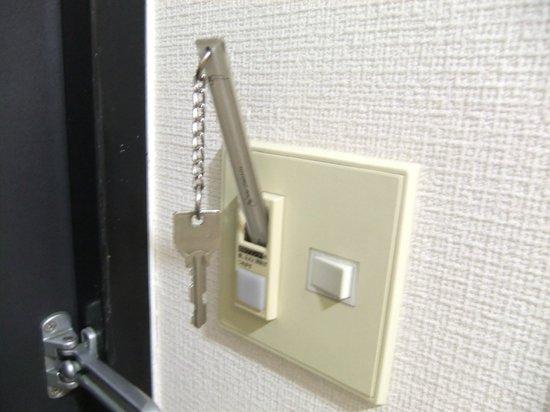 Toyoko Inn Chiba Makuhari: ルームキーをさしこむと電源が入る