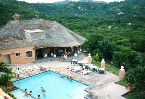 Villas Sol Hotel & Beach Resort: One of the Hotle pools and Resteraunt ...