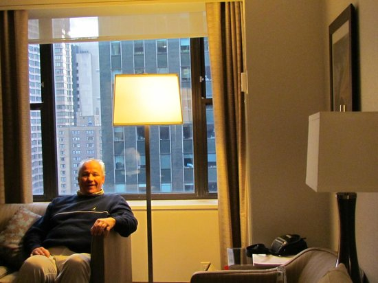 The Westin New York Grand Central: Robert Boyer relaxing in our room at The Westin.