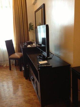 The Malayan Plaza: TV dresser area