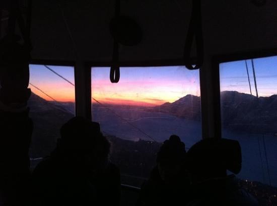Albergo Aurora: tramonto dalla Funicolare