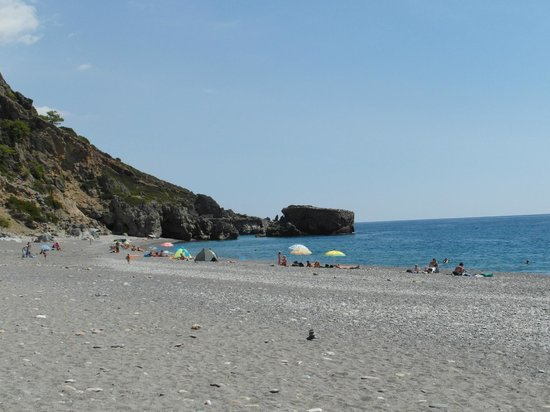 Erontas - Diktamo Rooms: East end of the wonderful Sougia beach
