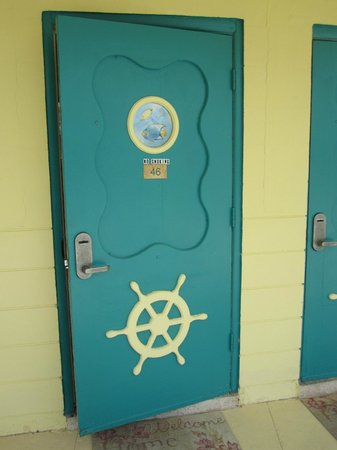 Blackfin Resort and Marina: One of our room doors.