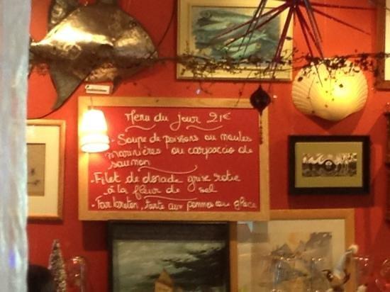 Cafe de la Cale : le menu du jour!