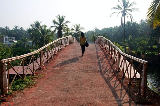 Vivanta by Taj Bekal: The bridge that joins the Jiva Spa area from the main hotel area