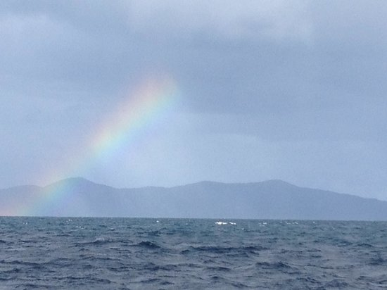 St. John Yacht Charters Survivan: Rainbow over White Bay