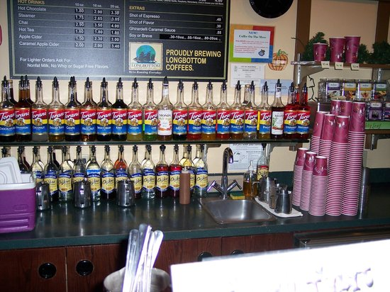 A Shot in the Dark Espresso Bar: Lots of flavors to choose from!