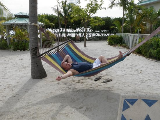 MB at Key Largo: Hubby relaxing!