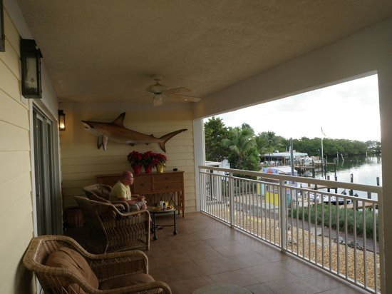 MB at Key Largo: Verandah where breakfast is served