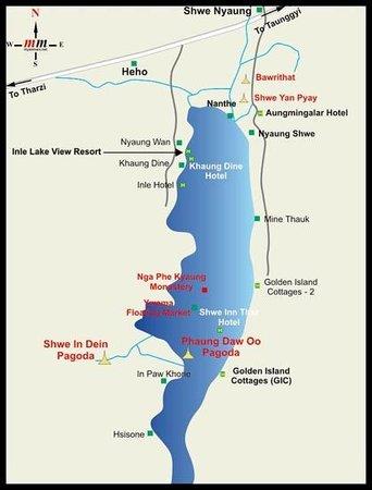 Golden Island Cottages - Nampan: карта озера