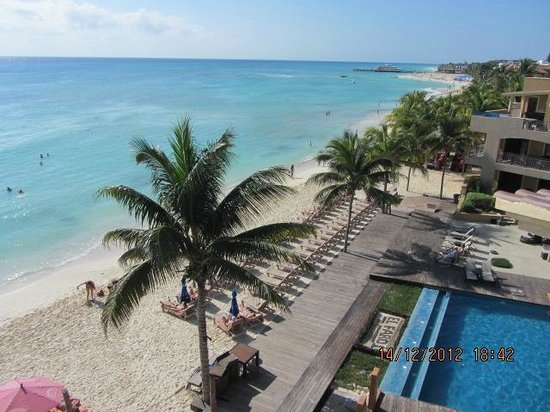 Residences El Faro: View from one condo in the 4th floor
