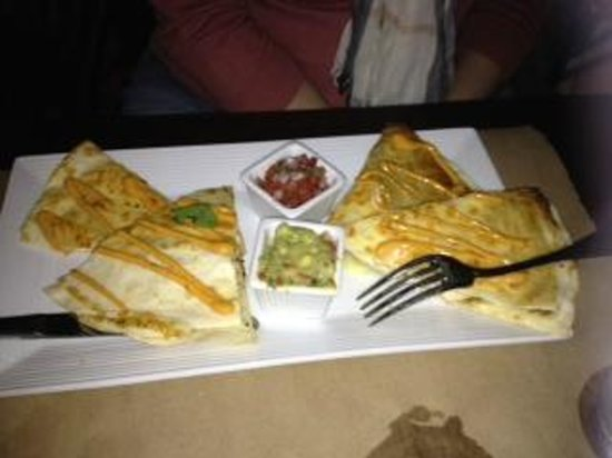 Backstage: Chicken  quesadilla  YUM !