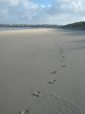 Lelant, UK: First person on the beach!