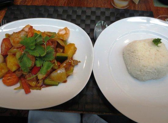 Grasshopper Restaurant: Prawns & rice main
