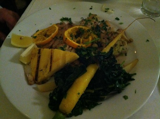 Osteria Monte Grappa: Pacific snapper with chard and polenta