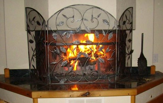 Morley's Acres Farm and Bed & Breakfast: Living Room Fireplace