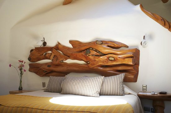 Cascada de las Animas: Cama en Lodge