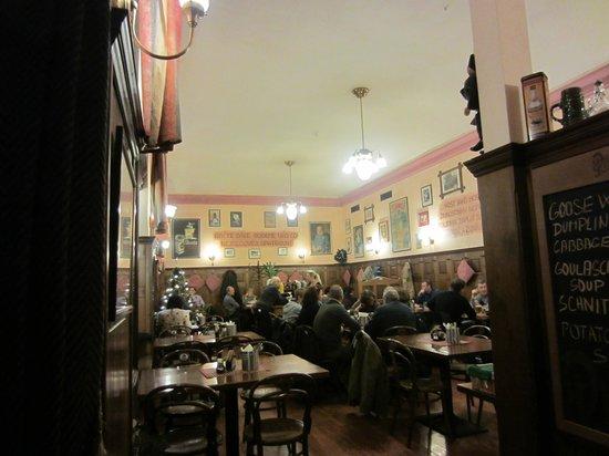 Svejk Restaurant : Cozy room that is very Czech in atmosphere