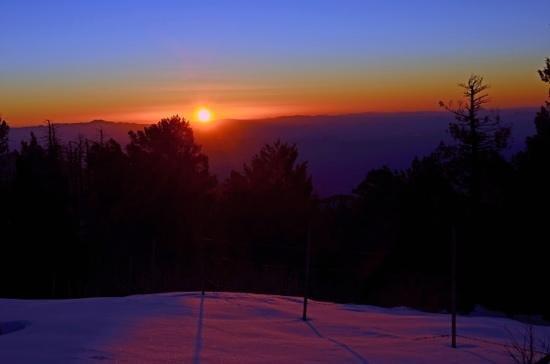 Mt. Lemmon SkyCenter Observatory: winter sunset from the SkyCenter on Mt. Lemmon.