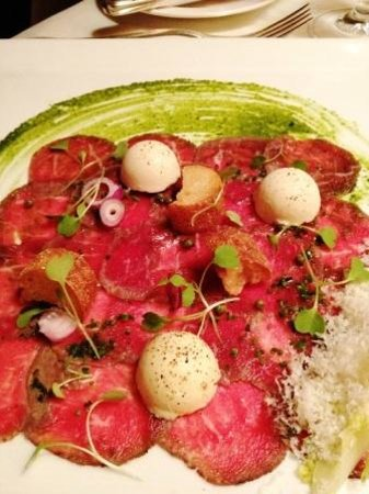 Inn at Little Washington: First Course - Lamb Carpaccio