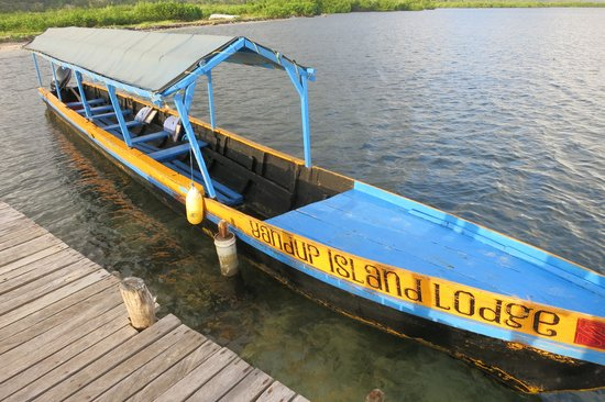 Yandup Island Lodge: Boat you take from airport to Yandup