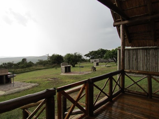 Mpila Camp: View from chalet 