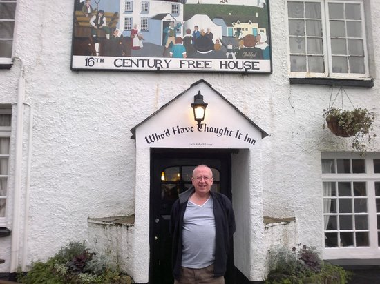 The Who'd Have Thought It Inn: My husband at the front door